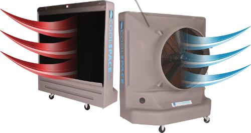 Ewaporacyjne chłodzenie obiektów